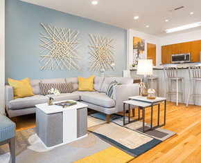 Fenway Diamond Living Room and Kitchen