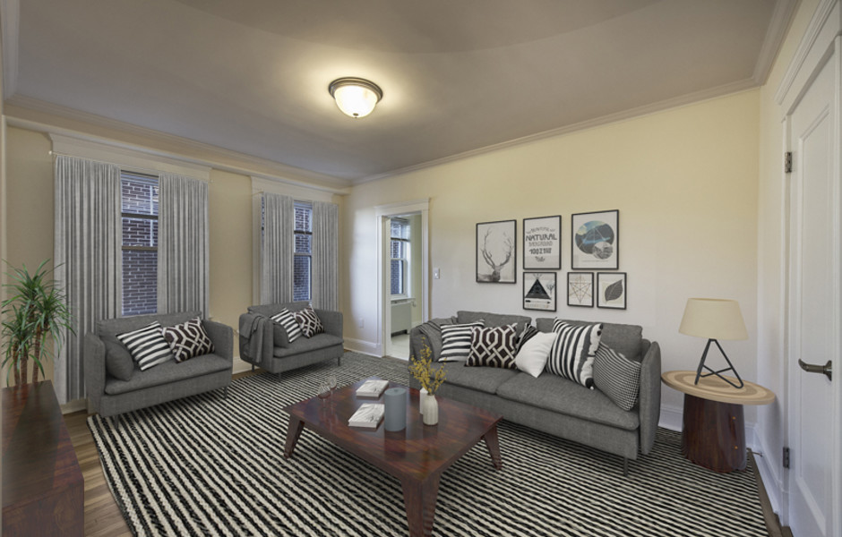 Chauncy Court - Newly Renovated Living Room