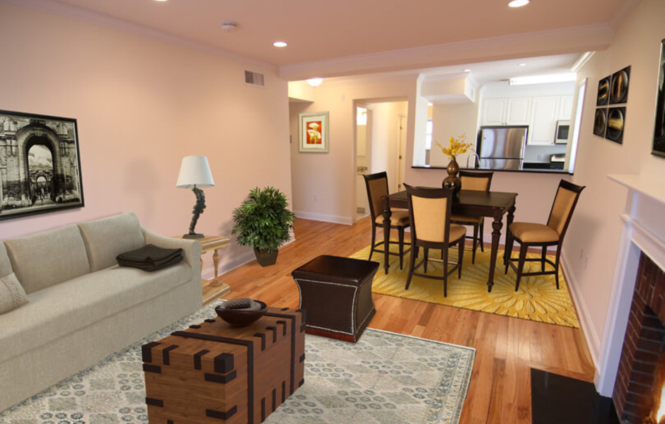 Langdon Square - Living and Dining Room